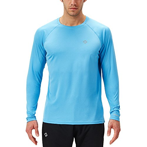 Naviskin Men's Sun Protection UPF 50+ UV Outdoor Long Sleeve T-Shirt Blue Size XXL