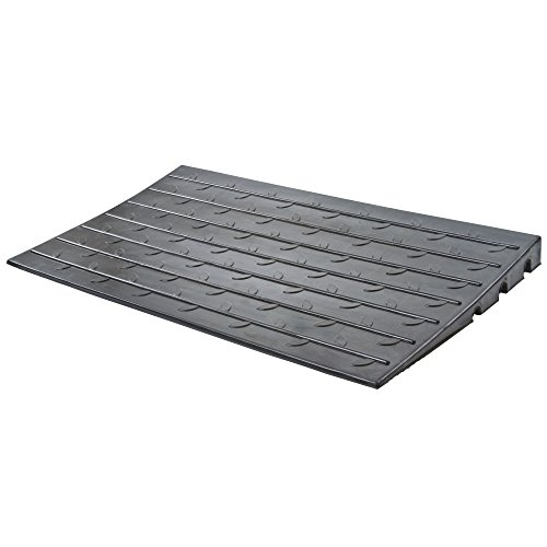 24'' X 42'' X 3'' Silver Spring Rubber Solid Threshold Ramp - 600 lb Capacity by Silver Spring