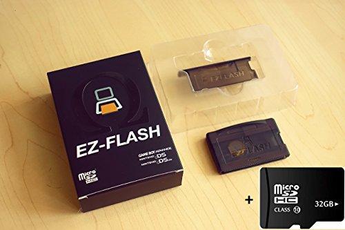 mentalKase EZFlash IV EZ4 Cartridge 32Gb BUNDLE! 32Gb SD CARD INCLUDED! Newest v1.77 BIOS! Micro SD Card Adapter for Gameboy Advance Flash Cart GBA SP NDS NDSL (EZ-FLASH IV 4) by mentalKase