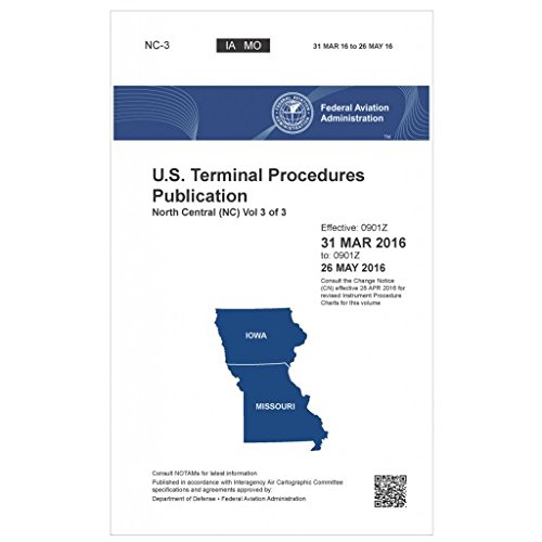 FAA IFR Terminal Procedures Bound North Central (NC-3) Vol 3 of 3 (Always Current Edition)