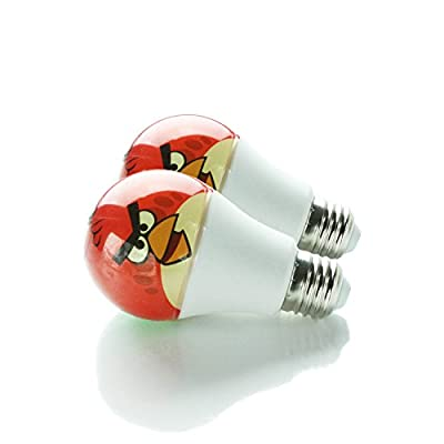 Custom Graphic Cover LED Light Bulbs - 5w lamp bulb with a19 lightbulb base - Fun Soft Warm Lighting equivalent to 60 watt incandescent type lights - Safe for indoor or outdoor use! - HueVee