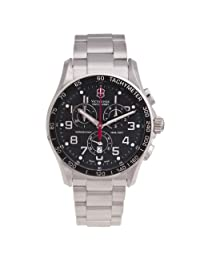 Victorinox Swiss Army Silver Stainless Band Black Dial - Men's Watch 241443