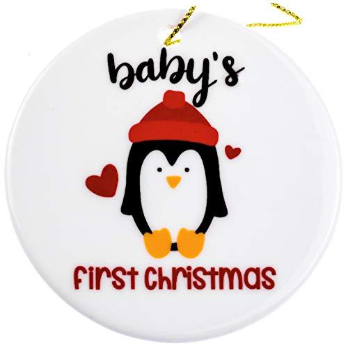 MaxDigital Ceramic Christmas Tree Ornament | Babys First Christmas Ornament 2-in-1 | My First Christmas Ceramic Ornaments for a Newborn Babys First Christmas Tree Ornament