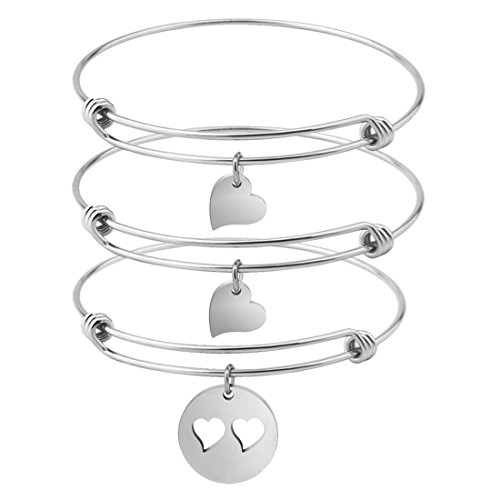 Zuo Bao Mother and 2 Daughters Bracelet Set- Mom and Daughter Jewelry- Gift for Mom (Mom and 2 Daughters ()