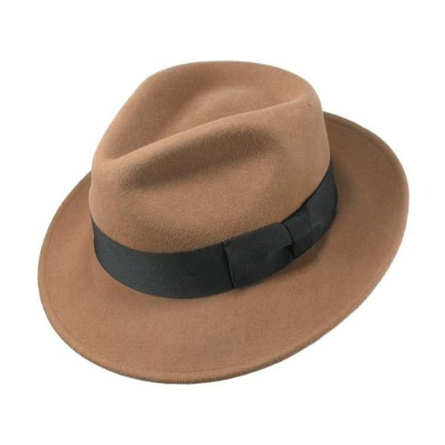 Jaxon C-Crown Fedora-Crushable (Small, Pecan)