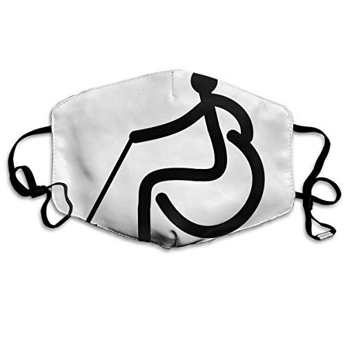 (SDQQ6 Wheelchair Curling Mouth Mask Unisex Printed Fashion Face Mask Anti-dust)
