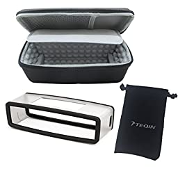 TEQIN 3in1 Kit Bluetooth Wireless Speaker Travel Silicone Bose Case with Backpack Hanging Buckle and Velvet Bag