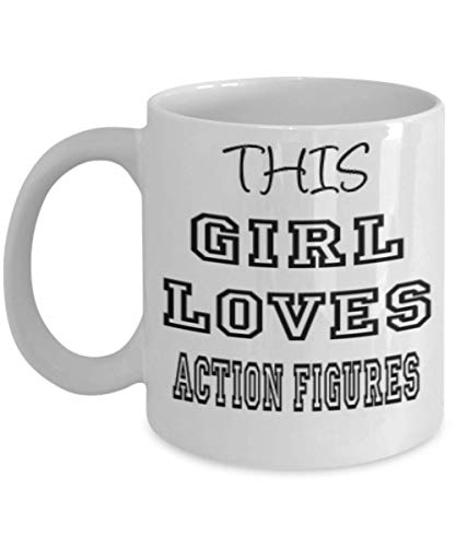 Funny Action Figures Gifts 11oz Coffee Mug - This Girl Loves - Best Inspirational Gifts and Sarcasm ak6691 ()