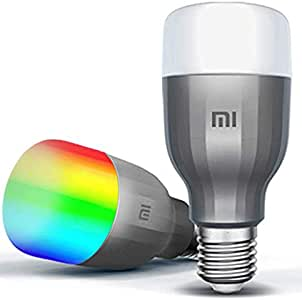 Xiaomi Mijia MI Smart LED Bulb Essential Colorful 950 Lumens 9W E27 Lamp Voice Control Work With Google Assistant Alexa (Upgraded Global Version) , 2pieces