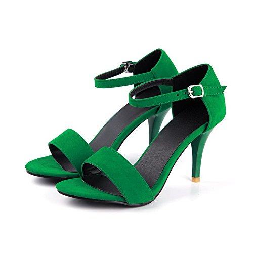 VogueZone009 Womens Open Toe Peep Toe High Heels