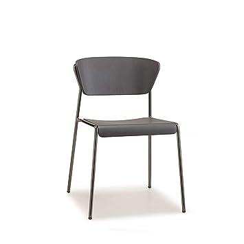 Amazon.com: Scab Design Lisa - Silla de madera con patas de ...
