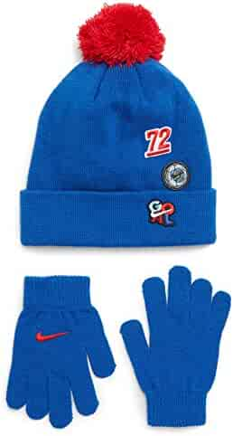 2403d26f267 NIKE Cozy Knit Patches Pom Beanie Soccer Swoosh Ski Skully Cold Weather  Cuffed Cap Winter Hat