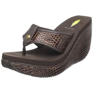 Amazon.com | Volatile Women's Swan Wedge Sandal, Brown, 9
