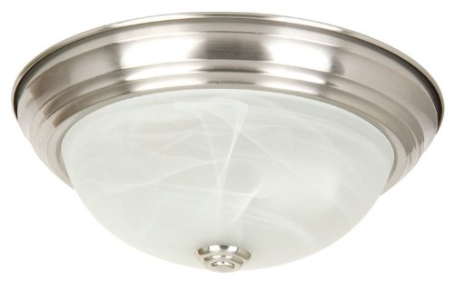 Yosemite Home Decor JK103-16SN Belen 3-Light 16-Inch Ceiling Flush Mount, Satin Nickel Frame