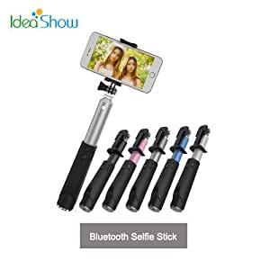ARBUYSHOP alta calidad inalámbrica Bluetooth autoadhesivos para el iPhone IOS extensible selfie Monopod palillo con Bluetooth para el teléfono Android