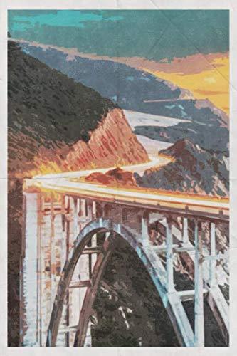 Pacific Coast Highway: California Road Trip Design Notebook Journal for Men Women & Kids