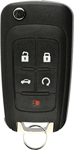 KeylessOption Keyless Entry Car Remote Uncut Flip Key Fob Replacement for Chevy Buick GMC OHT01060512