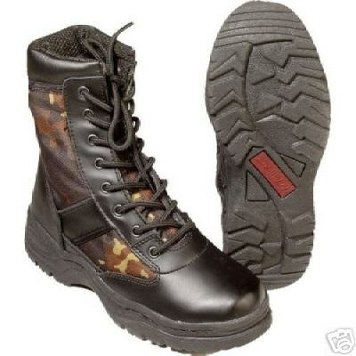 German Armed Forces Combat Boots Camouflage - UK 8 by Unbekannt