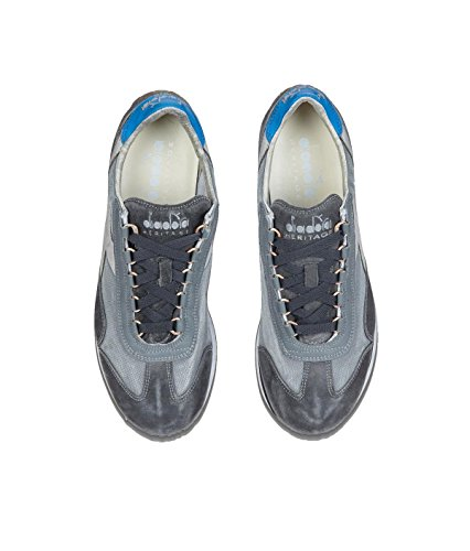 Diadora Heritage, Uomo, Equipe SW Dirty 11 Gray, Suede/Tessuto, Sneakers, Grigio