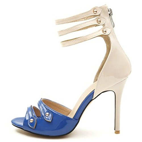 Bout Ouvert Femmes Blue Coolcept Sandales Talons Hautss 6zaWygqw