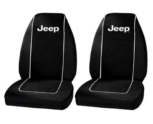 Plasticolor 6563R01 Jeep Logo Front Bucket Seat Covers - One Pair
