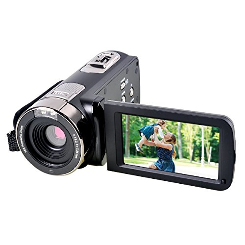 Digital Camcorder Camera,PowerLead PL-301 24MP 1080P Digital Video Camera with 2.7