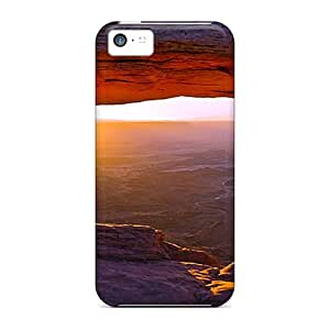 New Arrival Cases Specially Design For Iphone 5c (peeping Sunset At Mountain)
