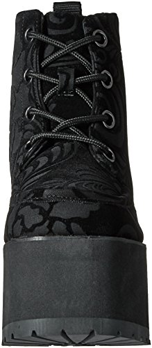 T Velvet Boots Women's u k Eye Burnout Nosebleed Black 4 Shoes rqUarHng