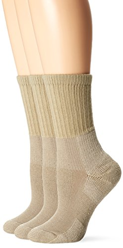 Thorlo Women's Hiking Sock 3 Pack, Khaki, 9
