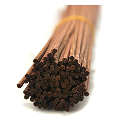 "Ougual 100 Pieces Rattan Reed Diffuser Replacement Refill Sticks 12""(30cmx3mm, Brown)"