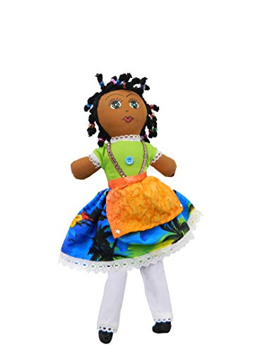 Rockin African American Doll Handcrafted Adorable Caribbean Souvenir Folkloric Toy Rasta Doll Old Style Made by Cloth ( Assorted - African Doll
