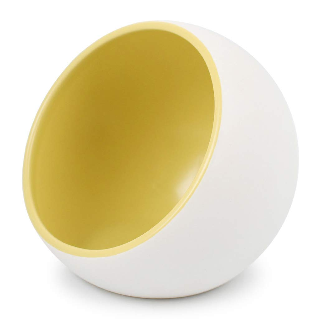 CQ Pet Dog Supplies Ceramic Cat Bowl Dog Bowl Cat Food Bowl Dog Pot Cat Food Bowl Oblique Mouth
