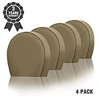 """Kohree Tire Covers for RV Wheel Heavy Duty 600D Oxford Motorhome Wheel Covers, Waterproof PVC Coating Tire Protectors for Trailer Truck Camper Auto, Fits 26.75""""-29"""" Tire Diameters Set of 4"""