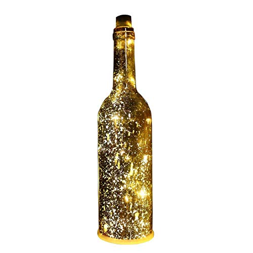 AceLife Wine Bottle Light LED Starry String Lights Kit (Glass Wine Bottle & Cork Included) with Gold Spark Effect for Courtyard/Kids Room/Wedding/Party/Showcase Decor