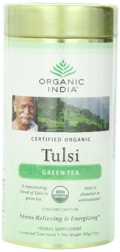 (Organic India Tulsi Green Tea, 3.5 oz)