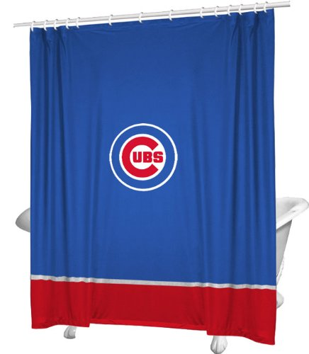 Curtain MLB Team: Chicago Cubs (Sports Coverage Shower Curtain)