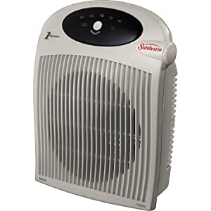 safe space heaters sunbeam electric portable cozy space heater 12498