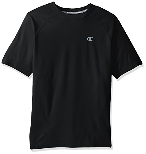 Champion Men's Double Dry Select Tee with FreshIQ, Black, XL from Champion