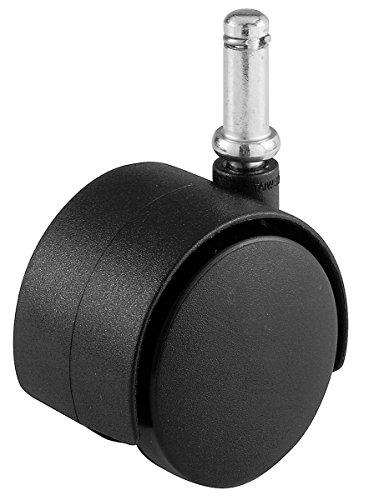 Shepherd Hardware 9674 2-Inch Office Chair Caster, Twin Wheel, 3/8-Inch Stem Diameter, 75-lb Load Capacity (La Boca Furniture)