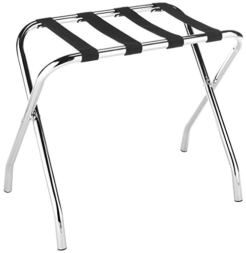 Whitmor Chrome Luggage Rack - Foldable - Commercial -