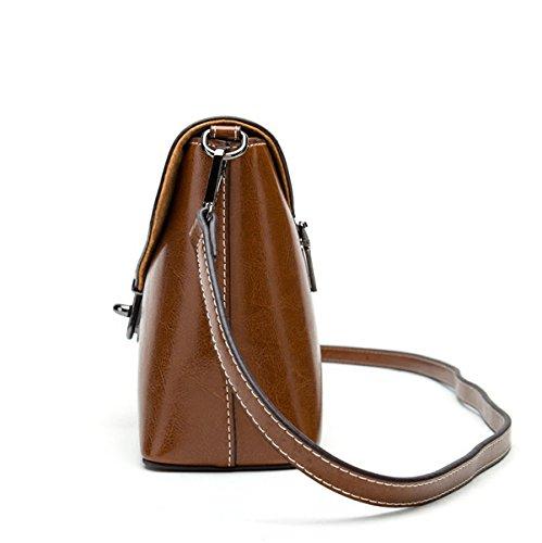 Diagonale Cuir À Brown Cross Femmes Petit Rétro Sac Body Épaule Main Sacs Bag Dames Boucle Sac Carré pAHSwqgT