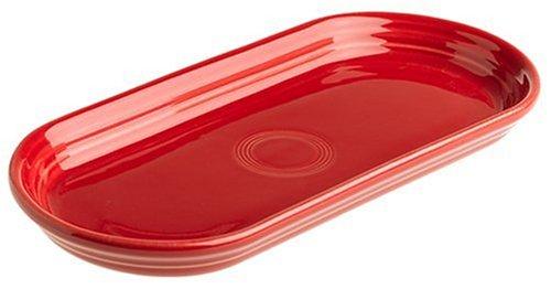 Fiesta 12-Inch by 5-3/4-Inch Bread Tray, Scarlet ()