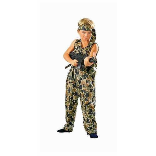 RG Costumes 90008-L Jungle Fighter Costume - Size Child-Large -