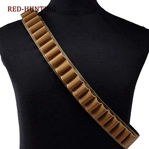 Best Quality - Pouches - Round 55'' 12GA Gun Bandoliers Belt Ammunition Holder Or 8 Round Ammo Carrier Loop Tactical Hunting Gun Cartridge - by DINAX - 1 PCs