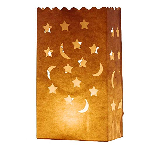 Paper Bag Halloween Luminaries (AIBER 30 X Paper Tea Light Candle Lantern Bags Wedding Party Garden BBQ Xmas)