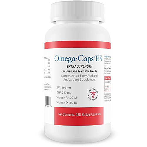 Pet Health Solutions Omega-Caps ES For LARGE Dogs - Omega 3, Vitamins, Minerals, Antioxidants - Support Immune System, Joints, Heart, and Brain - 60 Soft gel Capsules