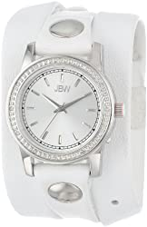 JBW Women's Stainless Steel Diamond-Accented Watch With Leather Wrap Band