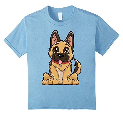Kids German Shepherd Cute Puppy T Shirt Funny Dog Puppies Gift 10 Baby (Top 10 Costumes)
