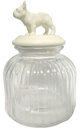 Bulldog Glass Treat Jar Decorative Kitchen Canister
