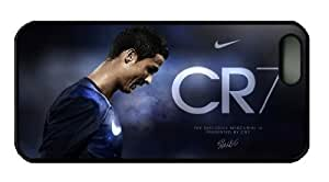 Sports - Cristiano Ronaldo Iphone 5 5S Case, Customized Iphone 5 PC Black Case hjbrhga1544